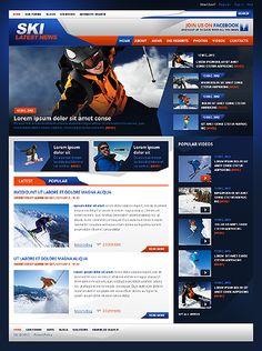 Cold #webdesign… 'Ski Latest' Drupal Template http://zign.nl/42924