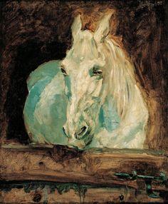 The White Horse (Gazelle), 1881 Henri de Toulouse-Lautrec ( 1864 - 1901 ) Henri De Toulouse Lautrec, Caravaggio, Tolouse Lautrec, White Horses, Art Moderne, Equine Art, Art Abstrait, Renoir, Horse Art