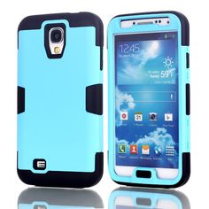 Hybrid Rubber ShockProof Protective Heavy Duty Hard Case Cover For Samsung Galaxy S4 i9500 w/Screen Protector Film+Stylus Pen