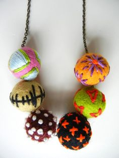 What the felt balls can look like with embroidery
