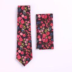 Wedding Ties, Red Wedding, Floral Wedding, Skinny Ties, Just Run, Floral Tie, Floral Prints, Vintage Fashion, Gift Sets