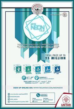 #InfoLomba #National #English #Competition #NEON2018 #Tarumanagara #EnglishClub #Jakarta NEON (National English Competition) 2018 Win Total Prize Up To IDR 25 Million  DEADLINE: 22nd April, 2018  http://infosayembara.com/info-lomba.php?judul=neon-national-english-competition-2018-win-total-prize-up-to-idr-25-million
