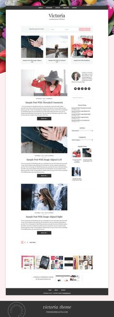 Victoria / WordPress Theme by freeborboleta on Minimalist Wordpress Themes, Wordpress Theme Design, Premium Wordpress Themes, Web Themes, Website Themes, Web Design Trends, Web Design Inspiration, Fashion Website Design, Responsive Slider