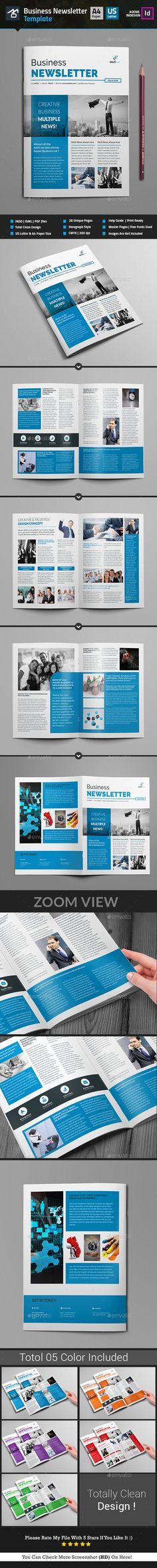 Newsletter For Corporate Business (8 Pages) by Al-Mamun | GraphicRiver
