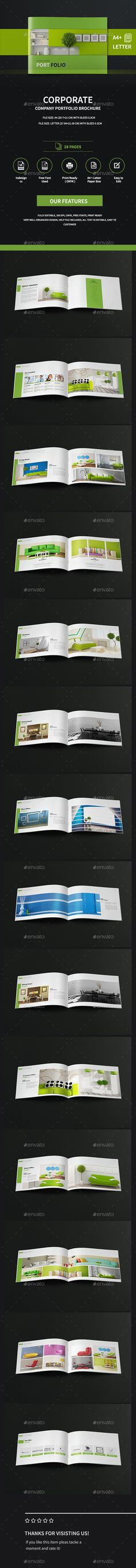 Landscape Company Portfolio Brochure A4 And Letter Template InDesign INDD. Download here: http://graphicriver.net/item/landscape-company-portfolio-brochure-a4-and-letter-/16344768?ref=ksioks