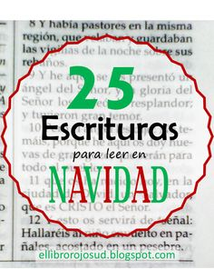 El Libro Rojo SUD: 25 Escrituras para leer en Navidad #25Escrituras #Jesucristo #Navidad #ElLibroRojoSUD