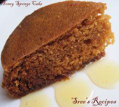 Sree's Recipes: Steamed Honey Sponge Cake