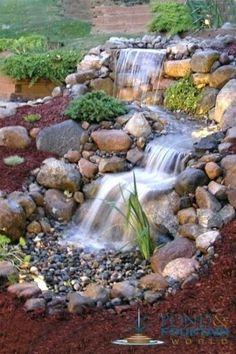 pondless fountain waterfall kit large larger image pondless water fountain ideas #largegardenfountains