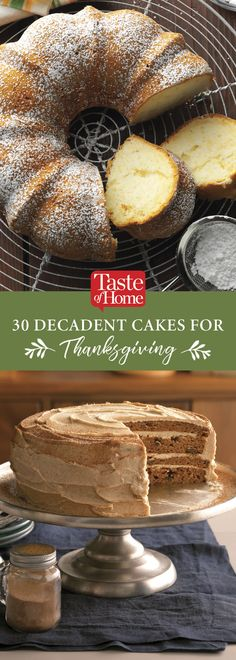 30 Decadent Cakes for Thanksgiving (from Taste of Home)