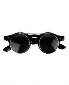e6955073cd26d Vintage Double-layered Keyhole Sunglasses Olhar Retro, Chifres, Revenda,  Lentes, Ouro