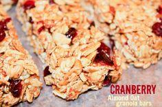 Cranberry Almond Oat Granola Bars | twintough.com