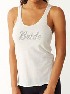 Eco Bride Tank Top. Bride to Be Tank. by TeamBrideDesigns on Etsy #weddings #bride #weddingparty