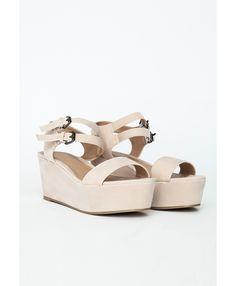 Sahen Suede Flatform Sandals - Footwear - Sandals - Missguided - $40