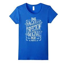 Men's Aged to Perfection born in 1945 - 72 years old Birthday Gift T-Shirt