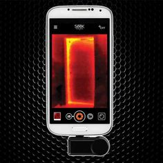 Seek – Thermal Imaging Camera for Android:: From finding leaky water pipes behind walls in the home, catching raccoons in the act late at night in your dumpster, police searching for an escapee in the dark to and electrition trying to find which circuts are failing. The Seek Thermal Camera lets you see the unseen. www.gonnawannagetit.com