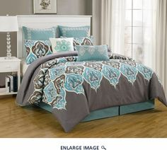 8 Piece Cal King Monte Carlo Bedding Comforter Set $79.99