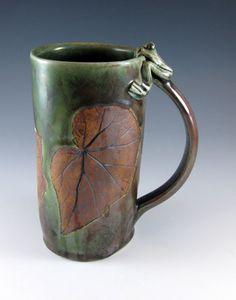 Extra Large Ceramic Stoneware Mug / Tankard / by Botanic2Ceramic, $54.00