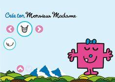 Créez votre Monsieur Madame avec evian ! Mr Men Little Miss, Monsieur Madame, Cycle, Recherche Google, Cinema, Teaching, Speech Language Therapy, Preschool, Graphic Design