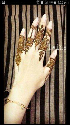 The best henna design Modern Mehndi Designs, Mehndi Design Pictures, Beautiful Henna Designs, Bridal Mehndi Designs, Bridal Henna, Mehandi Designs, Mehndi Images, Indian Bridal, Heena Design