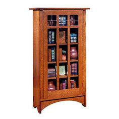 Shop for the Stickley Oak Mission Classics Single Door Bookcase with 4 Shelves at Sprintz Furniture - Your Nashville, Franklin, and Greater Tennessee Furniture & Mattress Store Drawer Shelves, Display Shelves, Storage Shelves, Beach Furniture, Living Room Furniture, Furniture Design, Mission Style Furniture, Open Bookcase, Single Doors