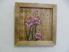 quadro pinus de flor de cerejeira