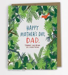 Happy Mother's Day, Dad Greeting Card