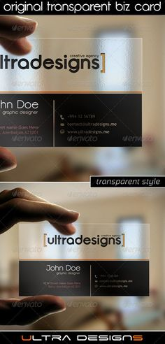 30 Elegant Transparent Business Cards | iBrandStudio