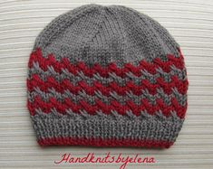 Please note: this is a PDF knitting pattern, not a finished product.  This pattern is available for INSTANT DOWNLOAD. Once your payment is confirmed, you will receive an email from Etsy with a download link (it can take about 5 minutes). If you need to contact me please do it through Etsy Conversations.  This listing is for a knitting pattern for an elegant hat with a beautiful border and crochet flowers available in size adult.  The hat is made in the round and does not have a seam.  Yarn…