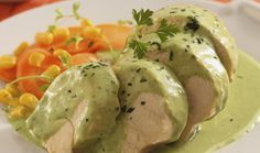 Pollo en salsa de cilantro