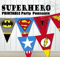 INSTANT DOWNLOAD Superhero Party Banner Super hero Party Banner Super hero…