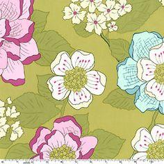 Sandi Henderson Secret Garden Wallflowers Fabric Dusk