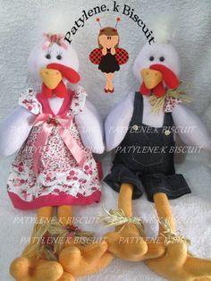 molde de casal de galo e galinha em tecido - Pesquisa Google
