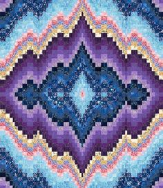 The Sweet Dreams Bargello quilt pattern is beautifully mesmerizing. It uses 23 different shades of fabrics and is constructed using the strip-piecing method. Finished size of this bargello quilt is x Bargello Quilt Patterns, Bargello Needlepoint, Bargello Quilts, Quilt Patterns Free, Embroidery Patterns, Easy Patterns, Broderie Bargello, Fabric Art, Quilt Making