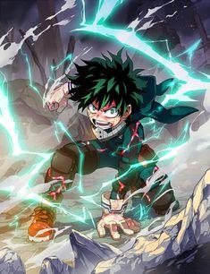Izuku Midoriya / Deku (My Hero Academia) Anime Boys, Manga Anime, Anime Art, Manga Girl, My Hero Academia Memes, Hero Academia Characters, My Hero Academia Manga, Best Action Anime, Tattoo Kind