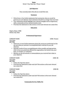 Student Resume Examples Example Resumes Sample For College  Home