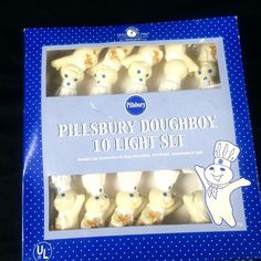 Pillsbury Doughboy Party String Lights 10 Dough Boys 12 Feet Indoor and Outdoor #Pillsbury