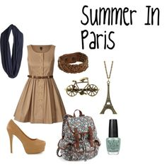 Summer In Paris Outfit, created by ammelol61.polyvore.com. I want this so much!