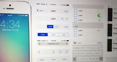iOS 7 gui template ui kit free