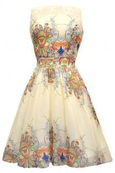 Lady Vintage Mayan Princess Chiffon Tea Dress : New Arrivals - Retro en Vintage kleding online | Looks Like Vintage