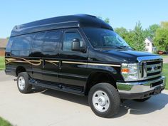 2009 FORD E250 EXT QUIGLEY 4X4 HIGH TOP CONVERSION VAN 1OWNR CLR CRFX NO RESERVE, image 1