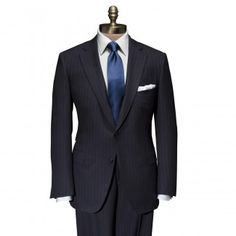Navy Stripe Super 150's Wool Paul Suit