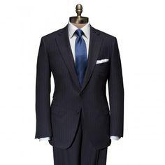 Navy Stripe Super 150's Wool Paul Suit