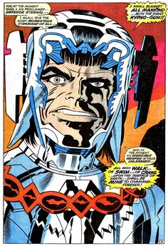 Maximus - The face of twisted genius, as only Jack Kirby can render it! Maximus the Mad, from 'Fantastic Four' . Comic Book Pages, Comic Book Artists, Comic Artist, Comic Books Art, Bd Comics, Marvel Comics, Jack Kirby Art, Marvel Entertainment, Silver Surfer