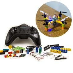 Kitables Lego RC Drone Kit Build and fly your very own quadcopter with our DIY drone building kit * Check out this great product. Drones, Drone Quadcopter, Pilot, Latest Drone, Electronic Kits, Do It Yourself Kit, Build Your Own, Diy Kits, Legos