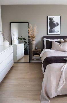 Room Ideas Bedroom, Bedroom Decor, Wall Decor, Ikea Bedroom, White Bedroom, Wall Art, Bedroom Canvas, Bedroom Signs, Decor Room
