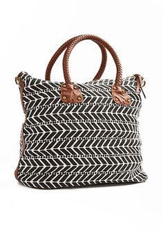 Black Braided Handle Bazaar Textured Tote By T-Shirt   Jeans® dee2bcb6b76