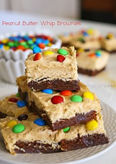 Peanut Butter Whip Brownies : Yummy Bar Recipes