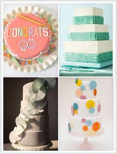 REVEL Picks: Modern wedding cakes - the turquoise one