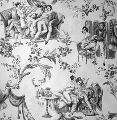 The latest tips and news on Toile du Jouy are on POPSUGAR Home. On POPSUGAR Home you will find everything you need on home dŽcor, garden and Toile du Jouy. Toile Wallpaper, Watercolor Wallpaper, Room Wallpaper, Chinoiserie, Textiles, Erotic Art, Surface Design, Illustration, Black And White