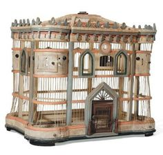 Awesome antique bird cage... @Amanda Snelson Garrett needs one of these